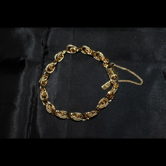 Monet Gold Plated Double Rope Chain Bracelet NWOT